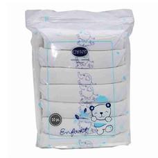 ENFANT BLUE ผ้าอ้อมสาลู Cotton ขนาด 27 x 27 นิ้ว (แพ็ก 6 ผืน)