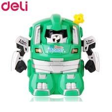 Deli 0729 เครื่องเหลาดินสอทรงหุ่นยนต์ สีเขียว