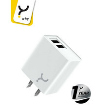 Why Wall Charger 2.1A 2 USB Chaste White