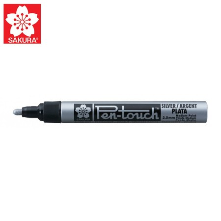 SAKURA Paint Marker ปากกาเพ้นท์หัวใหญ่ 2.0 มม. XPMK-B สีเงิน (No.41502)