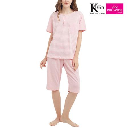 Kullastri KBra ชุดนอนผ้า Top Dye ใส่เป็นชุดลำลองได้ รุ่น SNPTH1PPI สีชมพู Free Size