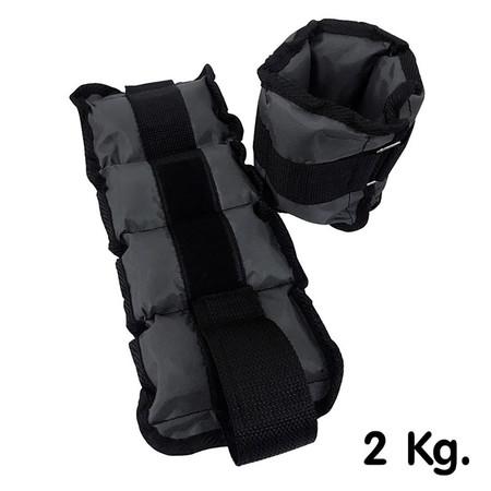 Thai Sports ปลอกน้ำหนัก รัดข้อมือ/ข้อเท้า น้ำหนัก 2 กก./คู่ สีเทา รหัสสินค้า E1X0N708A2