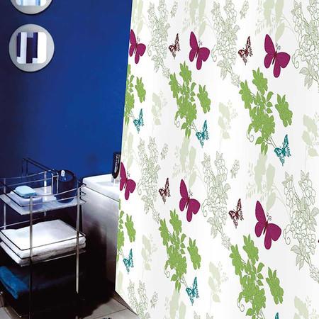 WSPม่านห้องน้ำเนื้อผ้าไนล่อน 100% พิมพ์ลาย ขนาด 180x180 ซม.ลาย NATURE