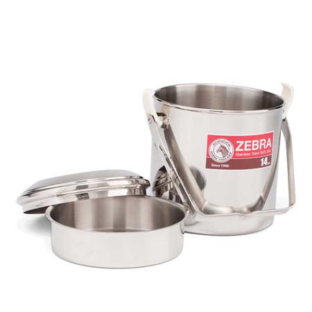ZEBRA หม้อหิ้ว Auto Lock 14 cm.