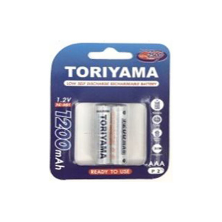 Toriyama ถ่านชาร์จ รุ่น AAA1200 แพ็ก 2