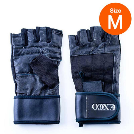 Thai Sports ถุงมือยกน้ำหนัก หนัง CG-17056 BLACK ไซส์ M รหัสสินค้า E3XT1102M