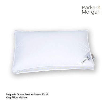 Parker & Morgan Belgravia Goose Feather & Down 90/10 Pillow King ไซส์( นุ่มกำลังดี)