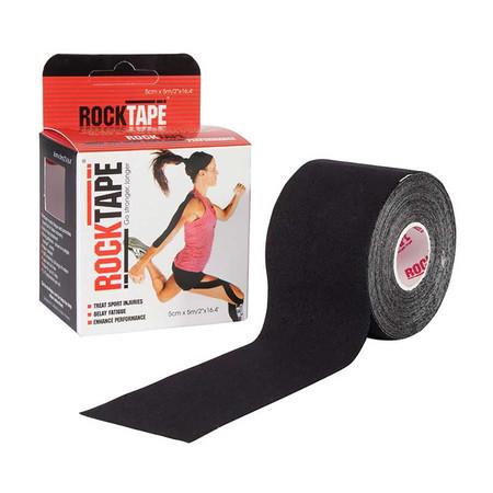 ROCKTAPE Model Standard Black Colour Size 5 ซม. x 5 ม.