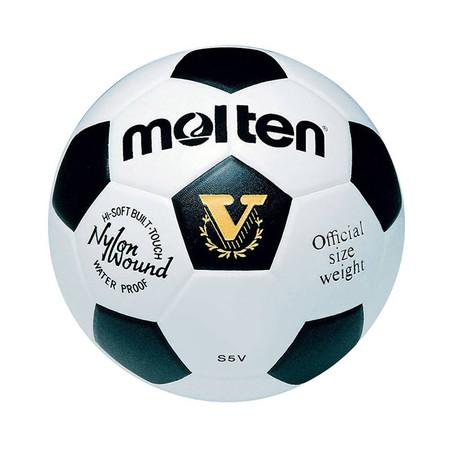 Thai Sports ฟุตบอล Molten หนังพีวีซี (PVC) หนังอัด ขนาดและน้ำหนักมาตรฐาน เบอร์ 5 สีขาว/ดำ รหัสสินค้า B2AS5V