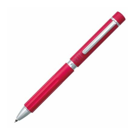 Sakura ปากกาหมึกเจล Ballsign Premium (หมึก 2 สีและดินสอกด) สีแดง