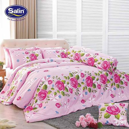 Satin ผ้าปูที่นอน ลาย D87 5 ฟุต