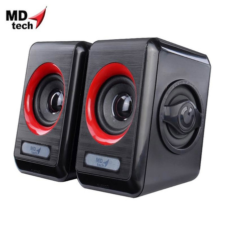 MD-TECH Speaker USB 2.0 SP-11 Black/Red