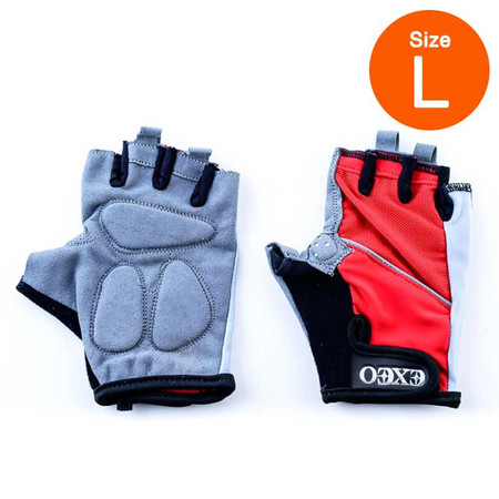Thai Sports ถุงมือจักรยาน CG-1452 RED วัสดุผ้า LYCRA มีเจลซัพพอร์ต ไซส์ L รหัสสินค้า E3XT1113L