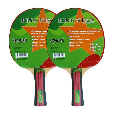 Thai Sports เซ็ต Table Tennis Bat KING STAR 3 star model Striker 2 ชิ้น