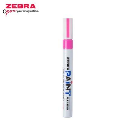 Zebra Paint Marker ปากกาเพ้นท์ MOP-200 สีชมพู (บรรจุ 10 ด้ามในกล่อง)