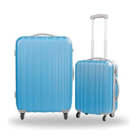 Caggioni แพ็คคู่ กระเป๋าเดินทาง รุ่น 16-SS-5702 สีฟ้าแก่ ขนาด 26 และ 20