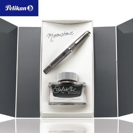 Pelikan Gift Box Set ปากกาหมึกซึม M205 Moonstone + Edelstein Ink Medium (M)