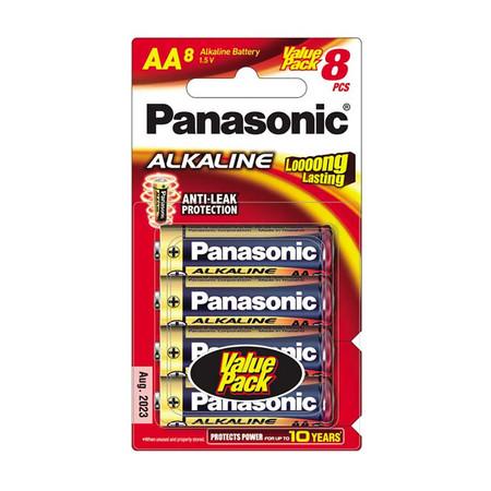 Panasonic ถ่านอัลคาไลน์ รุ่น LR6T/8B AA (8 ก้อน)