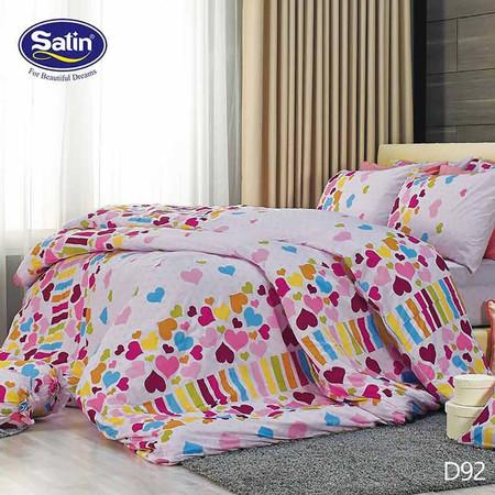 Satin ผ้าปูที่นอน ลาย D92 6 ฟุต