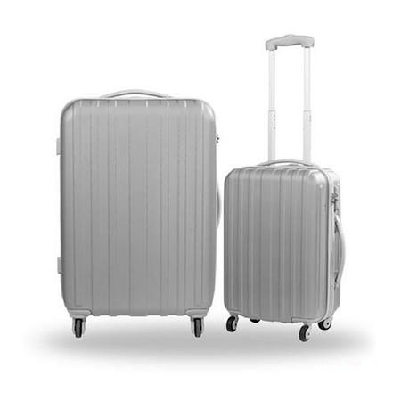 Caggioni แพ็คคู่ กระเป๋าเดินทาง รุ่น 16-SS-5702 สีเทา ขนาด 26 และ 20