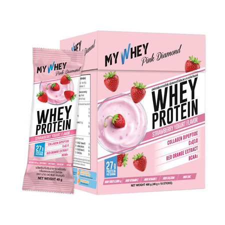 My Whey Pink Diamond Strawberry Yogurt 490 g