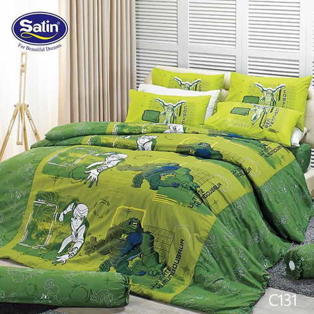 Satin Junior ผ้าปูที่นอน ลาย C131 6 ฟุต