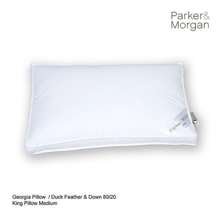 Parker & Morgan Georgia Duck Feather & Down 80/20 Pillow King ไซส์