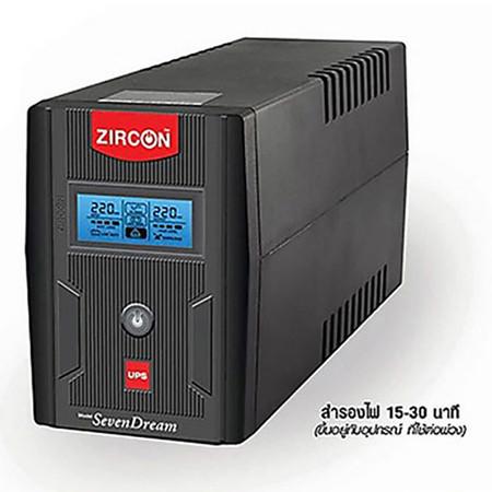 Zircon UPS Seven Dream 1000VA Black ( Exclusive Model For ShopAt24 )