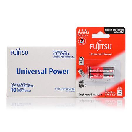 Fujitsu ถ่านอัลคาไลน์ Universal รุ่น LR03(2B)FU Size AAA 1.5V Box 2x10
