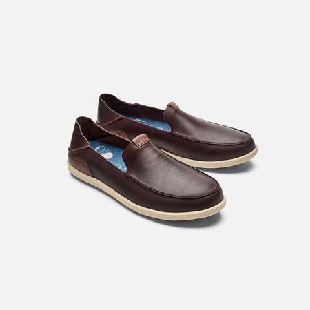 Olukai รองเท้าผู้ชาย 10379-SA20 M-NALUKAI SLIP-ON KONACOFFEE/TAPA 12 US