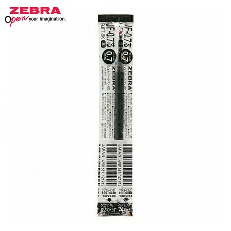 Zebra ไส้ปากกาหมึกเจล JF 0.7 มม. (บรรจุ 10 ชิ้นในกล่อง) ดำ