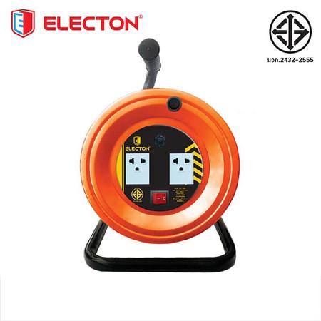 ELECTON ล้อชุดสายพ่วงไฟ มอก. VCT 3X2.5 30M เหล็ก รุ่น EN2-M32530