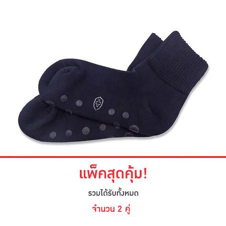 POKPONGTAO Diabetic Socks Non-slip Model ไซส์ 35-39 (2 แพ็ก)