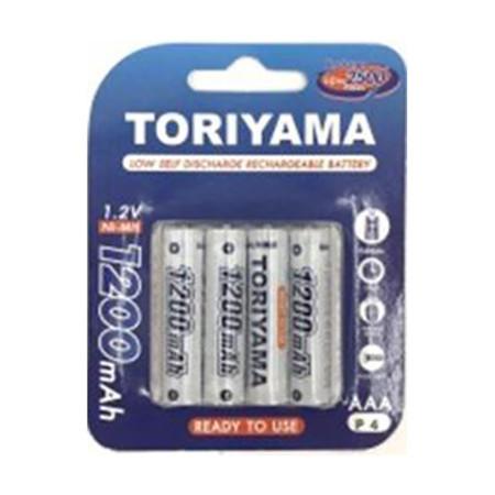 Toriyama ถ่านชาร์จ รุ่น AA1200 แพ็ก 4
