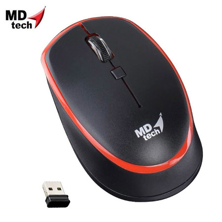 MD-TECH Wireless Optical Mouse RF-163 Black/Red