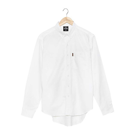 BJ JEANS Shirt BJWL-1112 #Twin Buttoned Flappy White Size L