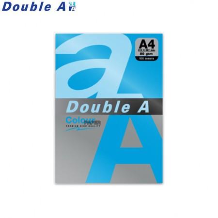 Double A กระดาษสี A4 หนา 80 แกรม (แพ็ก 100 แผ่น) สีฟ้าเข้ม (Deep Blue)