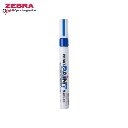 Zebra Paint Marker ปากกาเพ้นท์ MOP-200 สีน้ำเงิน (บรรจุ 10 ด้ามในกล่อง)