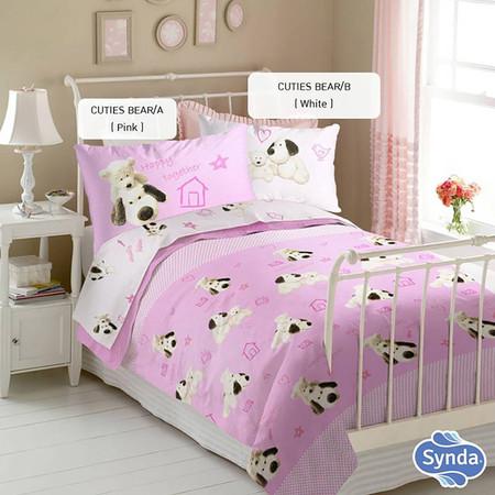 Synda ผ้าปูรัดมุม 3 ชิ้น 5 ฟุต CUTIES BEAR/A