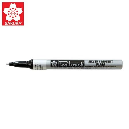 SAKURA Paint Marker ปากกาเพ้นท์หัวเล็ก 1.0 มม. XPMK สีเงิน (No.41302)