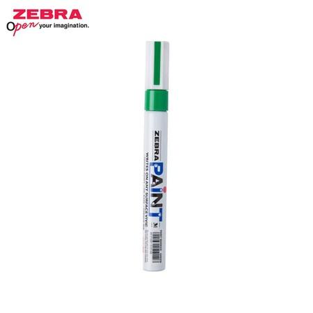 Zebra Paint Marker ปากกาเพ้นท์ MOP-200 สีเขียว (บรรจุ 10 ด้ามในกล่อง)