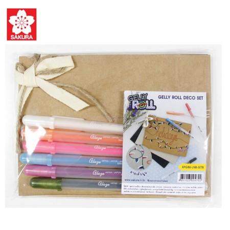 SAKURA GELLY ROLL Deco Set B ชุดปากกาเจลลี่โรล+เซ็ทกระดาษ
