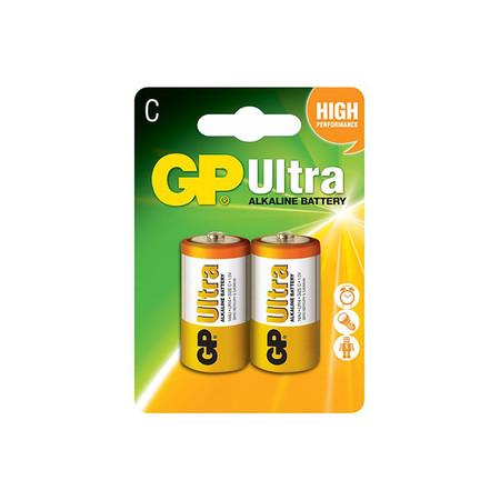 GP ถ่าน รุ่น Ultra Alkaline C 2 ก้อน