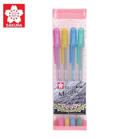 SAKURA ชุดปากกา GELLY ROLL Metallic 4 สี XPGB-M-AS4