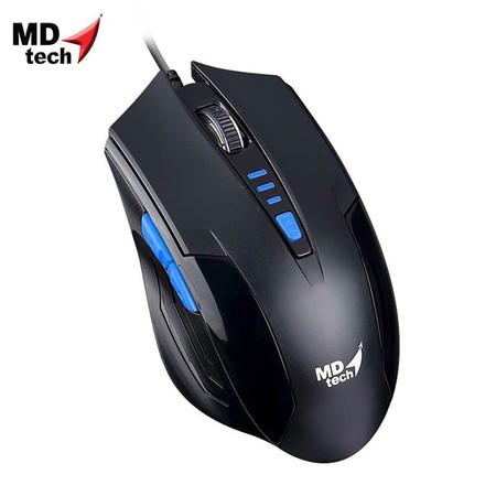 MD-TECH Optical Mouse USB BC-85 Black/Blue