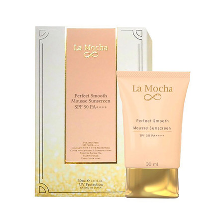 La Mocha Perfect Smooth Mousse Sunscreen SPF50 PA++++ 30 มล.
