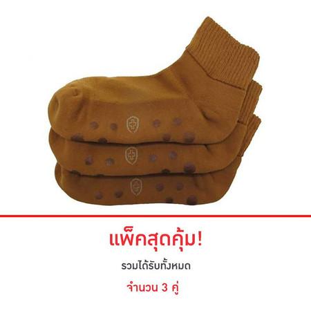 POKPONGTAO Diabetic Socks Non-slip Model Golden Colour 3 แพ็ก