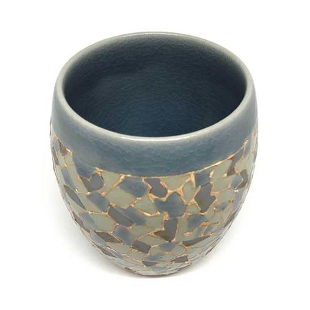 ChiangMai Celadon แก้วป่องกลาง ศิลาดลโมเสค