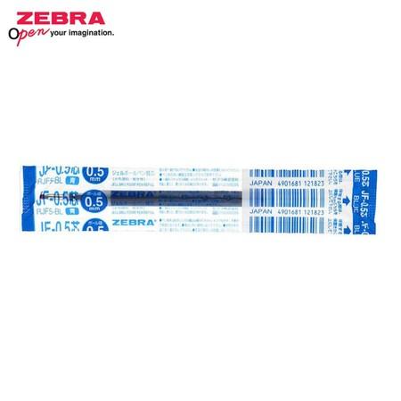 Zebra ไส้ปากกาหมึกเจล JF 0.5 มม. (บรรจุ 10 ชิ้นในกล่อง) น้ำเงิน