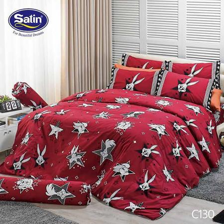 Satin Junior ผ้าปูที่นอน ลาย C130 3.5 ฟุต